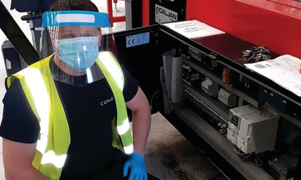 Caljan Service Technician With Facemask